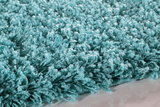 Turquoise hoogpolig vloerkleed Fair 4000/AY Turquoise_