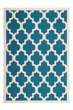 Turquoise modern tapijt Manoa Turquoise_