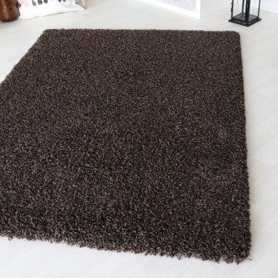 Hoogpolig vloerkleed Angy bruin 160