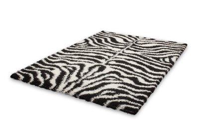 Zebra vloerkleed Duitsland - Hamburg Zwart / Wit