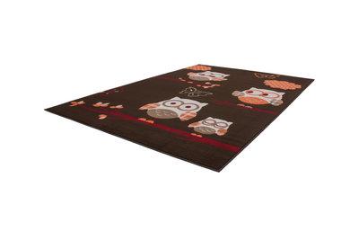 Patchwork look karpet Lucia 2044 Koffie