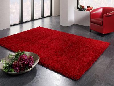 Shaggy vloerkleed rood Ontario 630