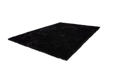 Zwart hoogpolig vloerkleed Axel Zwart