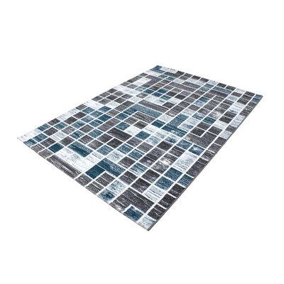 Karpet ruit Mallorca 3140/AY Turquoise
