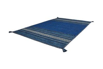 Katoen tapijt Aziata 335 Blauw