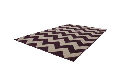 Laagpolig design vloerkleed Manoa Purple