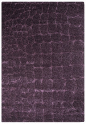 Laagpolig design vloerkleed Adrin 7001 Violet