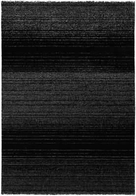 Zwart effen vloerkleed Maldy 180 Zwart