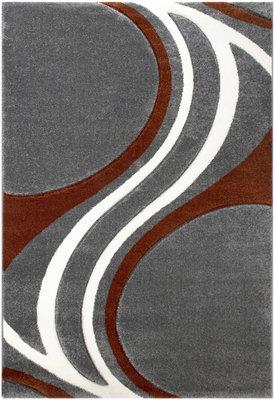 Koper kleurig vloerkleed Fleur 8006