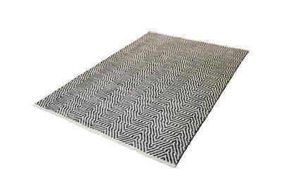 Vloerkleed goedkoop gemaakt van wol Retif Grijs