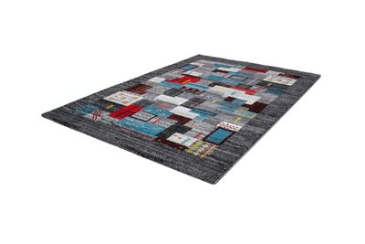 Karpet grijs met patchwork motief Bahraq