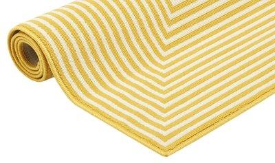 Modern geel vloerkleed met strepen Thera