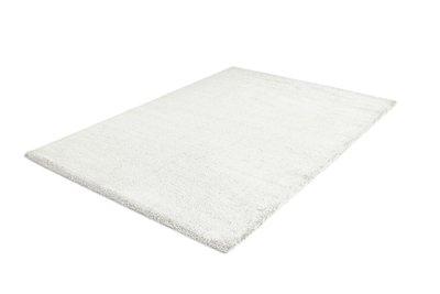 Wit hoogpolig vloerkleed of tapijt Nias 1200