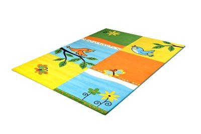 Kinder vloerkleed of karpet Adi 2103 Geel