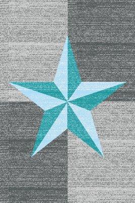 Modern vloerkleed Galant 8002 kleur Turquoise