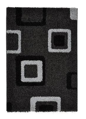 Hoogpool vloerkleed Maestro kleur zwart grijs 2751