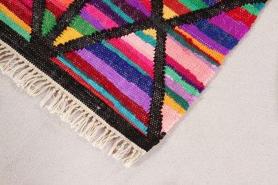 Handgemaakt vloerkleed Loreal kleur Zwart