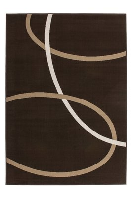 Modern vloerkleed Rols kleur mocca