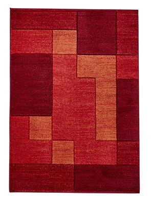 Vloerkleed Madras kleur rood A0221