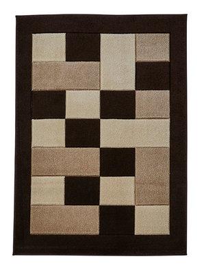 Vloerkleed Madras kleur bruin beige MT04