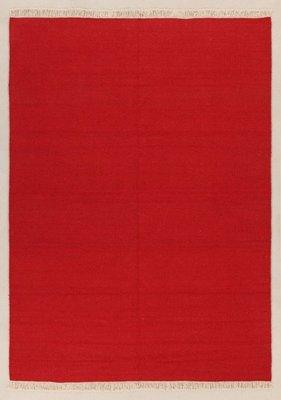 Zuiver wol vloerkleed Verzo kleur Rood