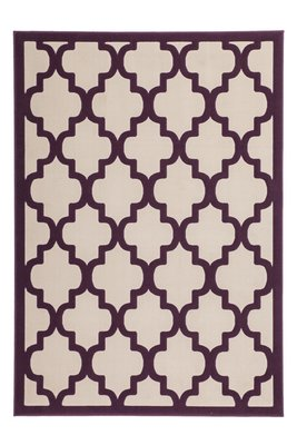 Modern vloerkleed Dolf Taupe Purple