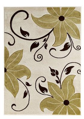 Aanbieding vloerkleed Victoria kleur beige groen OC15