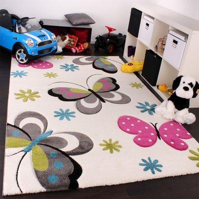 Kinderkamer vloerkleed Kelly 772 Creme 60