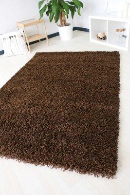 Bruin hoogpolig tapijt Calys 170