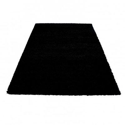 Hoogpolig vloerkleed Prime Shaggy 9000 Zwart