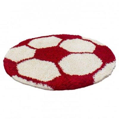 Voetbal vloerkleed Funny 6001 kleur Rood
