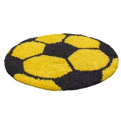 Voetbal vloerkleed Funny 6001 kleur Geel