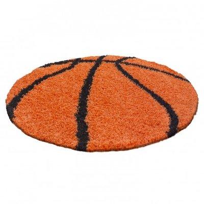 Voetbal vloerkleed Funny 6001 kleur Oranje