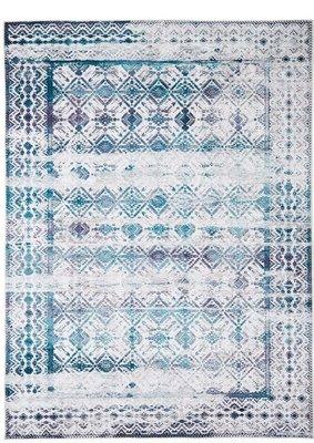 Vloerkleed Kelim kleur aqua