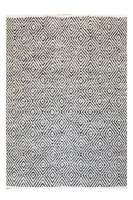 Katoen vloerkleed Retif grijs