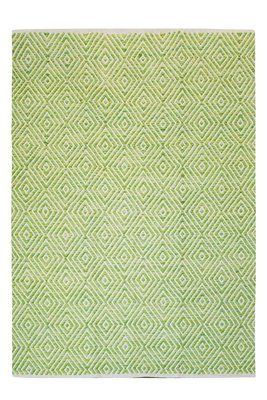 Katoen vloerkleed Retif groen