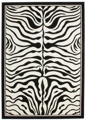 Print vloerkleed Transit Zwart Wit