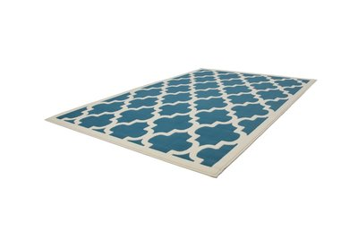 Turquoise modern tapijt Manoa Turquoise